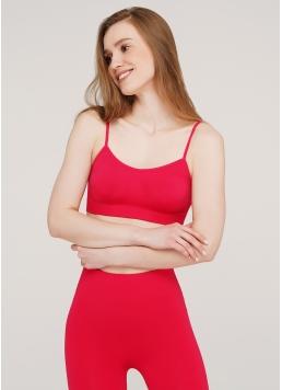 Безшовний топ на бретелях CAMI TOP (яскраво-рожевий) Giulia