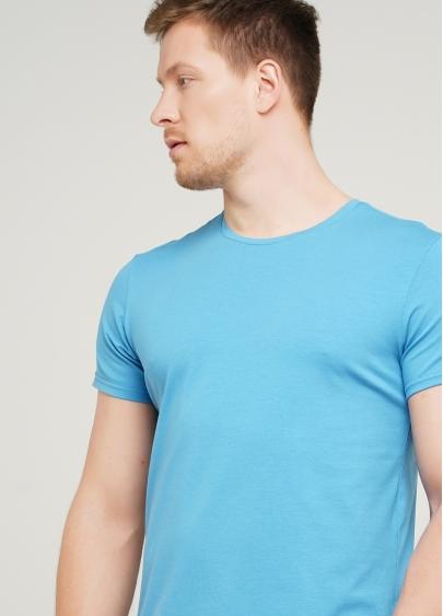 Класична чоловіча футболка Adam 49/409/010 (блакитний)