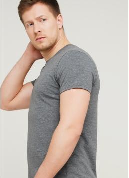 Класична чоловіча футболка Adam 49/409/010 (темно-сірий)