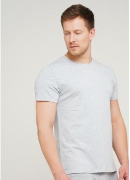 Класична чоловіча футболка Adam 49/409/010 (світло-сірий)