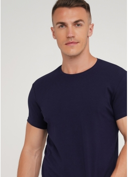 Класична чоловіча футболка Adam 49/409/010 (синій)