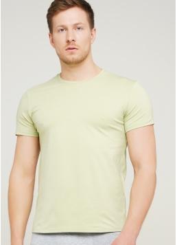 Класична чоловіча футболка Adam 49/409/010 (оливковий)