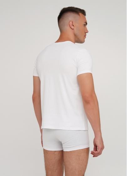 Класична чоловіча футболка Adam 49/409/010 white (білий)