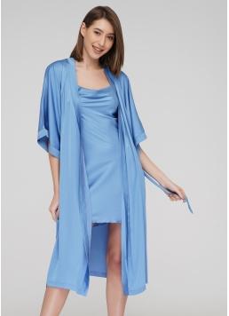 Халат HELENA 7215/050 (блакитний) Giulia