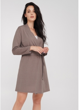 Короткий халат з принтом на спині та горохом JULIET 7302/030 Giulia