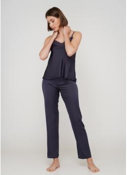 Жіноча піжама зі штанами HELENA 5003/051 (темно-сірий) Giulia
