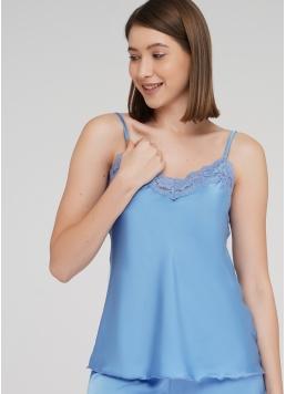 Комплект піжами з шортиками HELENA 6007/051 (блакитний)