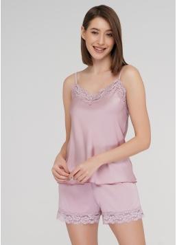Комплект піжами з шортиками HELENA 6007/051 (рожевий)