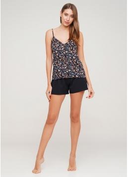 Бавовняна піжама жіноча з шортами SUMMER FLOWERS 6011/040