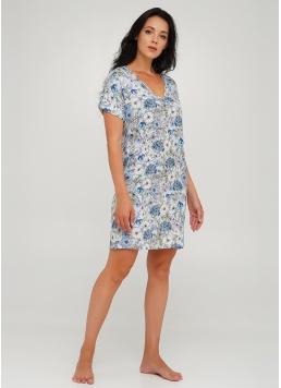 Коротка нічна сорочка з квітковим принтом OLIVE 8103/040 Giulia