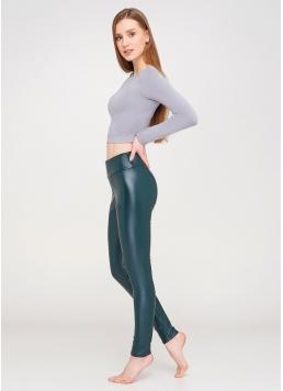 Жіночі легінси з еко-шкіри LEATHER LEGS 4310/090 (зелений)