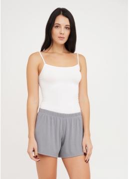 Короткі шорти в рубчик RIB 4209/010 grey (сірий)