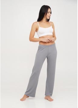 Довгі штани з бавовни в рубчик RIB 4307/010 grey (сірий) Giulia