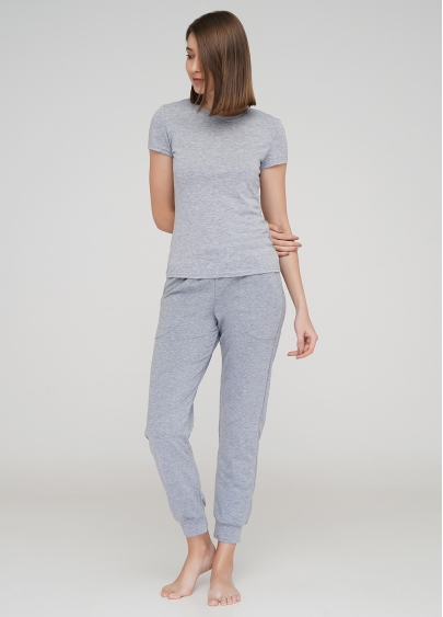 Бавовняні спортивні штани SPORT PANTS 4301/010 (сірий меланж)