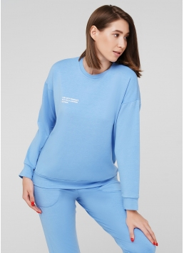 Жіночий спортивний світшот SWEATSHIRT SPORT 4408/010 (блакитний)
