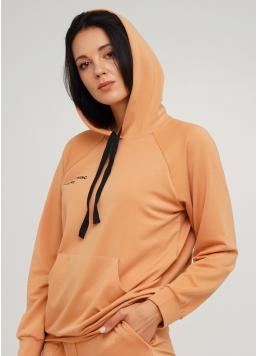 Жіночий спортивний світшот з капюшоном SWEATSHIRT SPORT 4409/010 (карамельний)