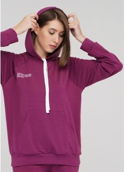 Жіночий спортивний світшот з капюшоном SWEATSHIRT SPORT 4409/010 Giulia