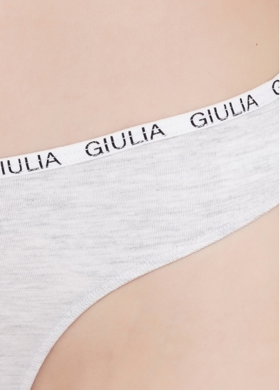 Бавовняні жіночі стрінги Logo 2102/60 (сірий)
