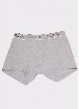 Чоловічі труси боксери бавовна 20401/60 grey melange (сірий) Giulia