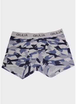 Чоловічі труси з принтом PRINT 20401/60 camouflage (сірий) Giulia