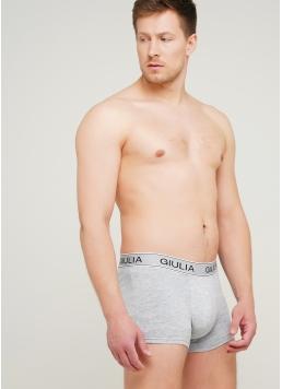 Чоловічі труси боксери бавовна 20401/60 (світло-сірий) Giulia