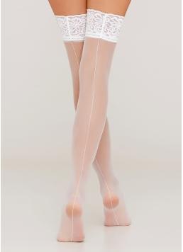 Панчохи з декоративним швом Chic 20 calze den bianco (білий)