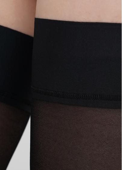 Панчохи з написом та гладкою резинкою INSPIRE 20 (1) calze nero (чорний)