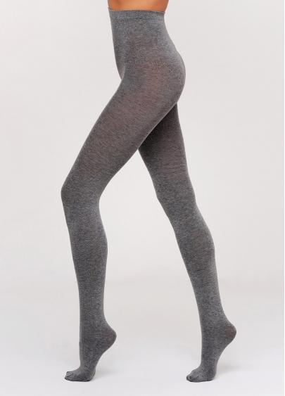 Колготки бавовняні меланжеві Melange Cotton 200 den (dark grey)