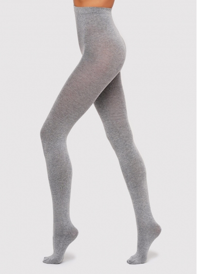 Колготки бавовняні меланжеві Melange Cotton 200 den Giulia