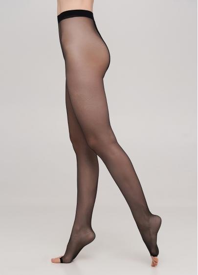 Колготки класичні з відкритим носком TOE 15 (nero)