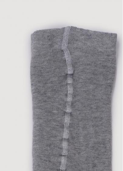 Бавовняні колготки для підлітків з написом D091 TEEN GIRL light grey melange (меланж)