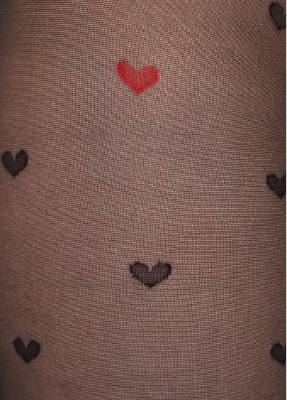 Колготки в дрібні серця Eva 20 den model 1 Giulia