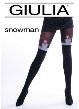 Новорічні колготки з імітацією панчіх SNOWMAN Giulia