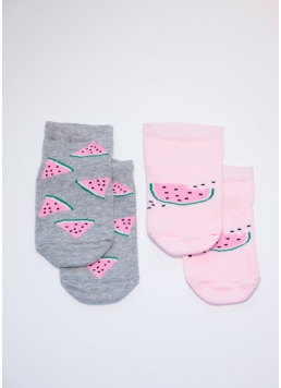 Бавовняні шкарпетки для дівчаток KS1M-007 / (2) calzino (KSS KOMPLEKT-007 (2 пари)) Giulia