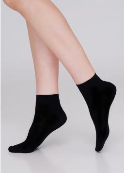 Дитячі бавовняні шкарпетки (2 пари) KS2 CLASSIC (пак х2) light grey melange/black (сірий меланж/чорний)