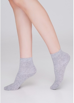 Дитячі бавовняні шкарпетки (2 пари) KS2 CLASSIC (пак х2) light grey melange (сірий меланж)