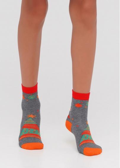 Дитячі новорічні шкарпетки з малюнком KS2M-NEW YEAR-007 Giulia