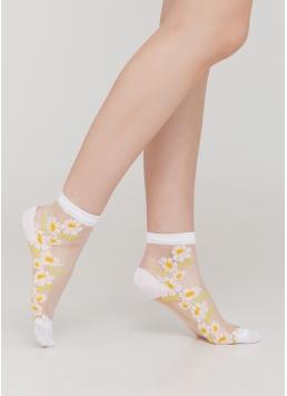 Дитячі шкарпетки прозорі з ромашками KS3 CRISTAL 016