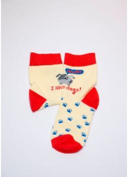 Дитячі шкарпетки з бавовни KSL-006 calzino yellow (жовтий)