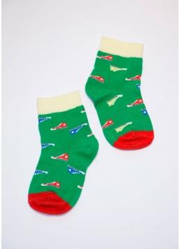 Дитячі шкарпетки з малюнком KSL-008 calzino green (зелений)
