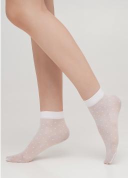 Дитячі шкарпетки капронові в горошок LNN-04 calzino