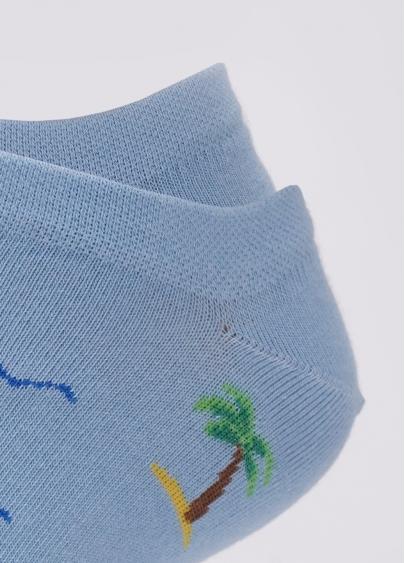 Бавовняні чоловічі шкарпетки короткі з пальмами MS1 MARINE 012 Giulia