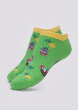 Короткі шкарпетки чоловічі з тропічним малюнком MS1 TROPIC 001 (зелений) Giulia