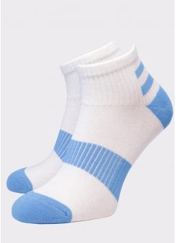 Чоловічі короткі шкарпетки MS2C/Sp-002 (MSM SPORT-02 calzino) (блакитний) Giulia