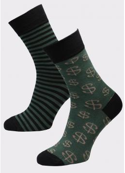 Чоловічі високі шкарпетки з малюнком MS3 SOFT FASHION 051 (пак х2) Giulia