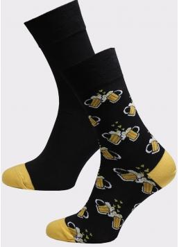 Чоловічі високі шкарпетки MS3 SOFT FASHION 057 (пак х2) Giulia