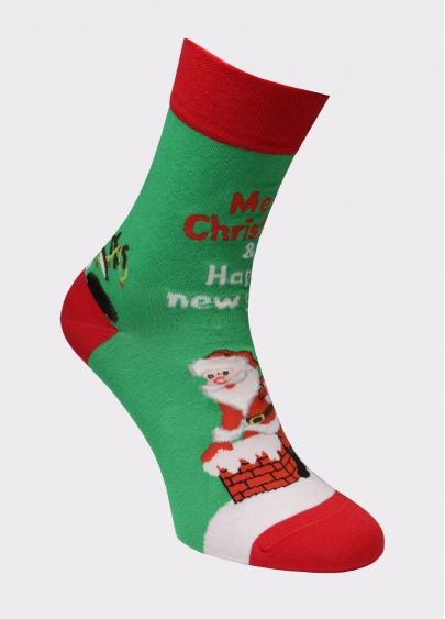 Шкарпетки чоловічі з новорічним принтом MS3 SOFT NEW YEAR 20-04 Giulia