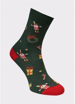 Чоловічі новорічні шкарпетки MS3 SOFT NEW YEAR 20-07 Giulia