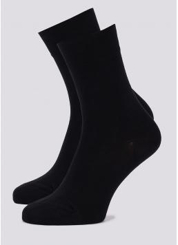 Однотонні чоловічі шкарпетки з бавовни високі MS3 SOFT PREMIUM CLASSIC (чорний) Giulia