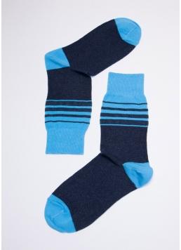 Кольорові шкарпетки для чоловіків MS3C-023 (MSL-023 (2 р-ра) calzino) navy (синій)